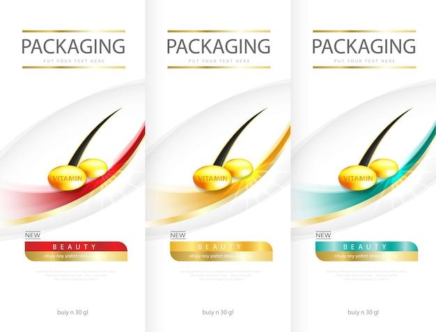 보호, 윤기, 광채 효과를 디자인하는 샴푸 화장품의 헤어케어 디자인