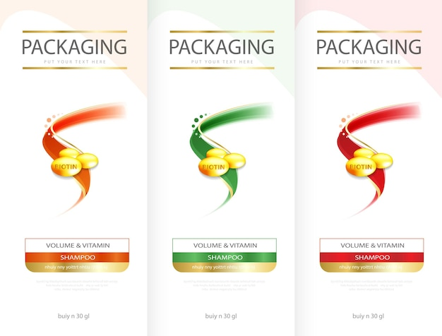 Hair care design of shampoo cosmetic for design the effects of protection and shine and radiance