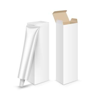 ヘアカラー染料バルサムマスク歯磨き粉包装箱チューブ