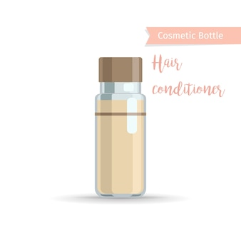 Hair conditioner cosmetics bottle