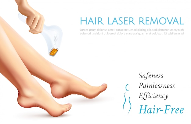 Hair laser removal poster