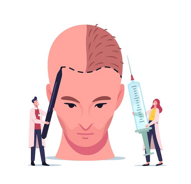 脱毛と健康問題の後退