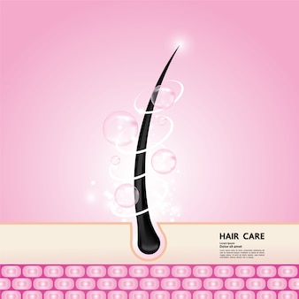 Hair protect and care technology   illustration.