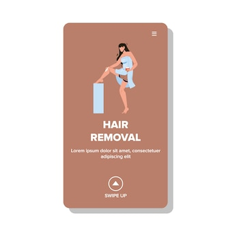 Hair removal beauty procedure smooth skin