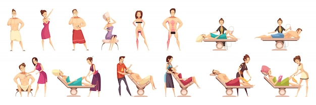 Hair removal depilation epilation icon set