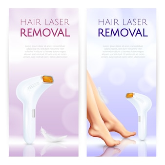 Hair removal vertical banners