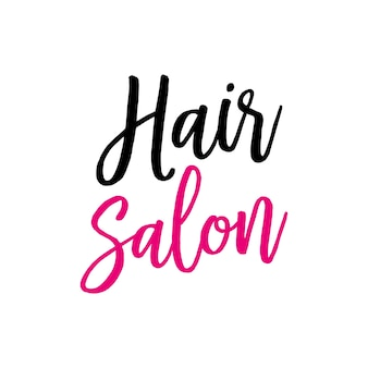 Hair salon lettering