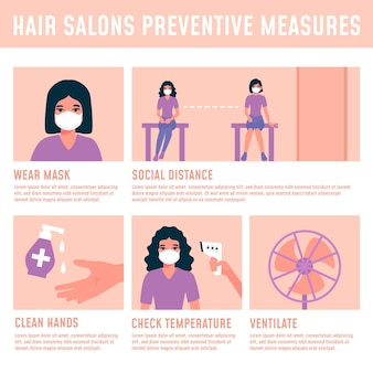 Hair salon preventive measures and clean space
