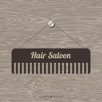 Hair saloon logo with a brush