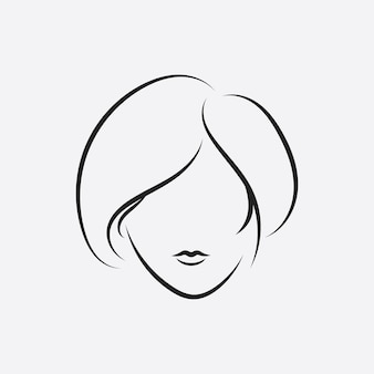 Волосы женщина и лицо логотип и символы
