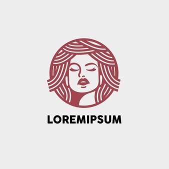 Hair woman beauty skin care illustration logo