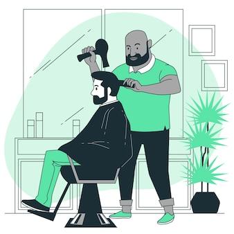 Иллюстрация концепции парикмахера