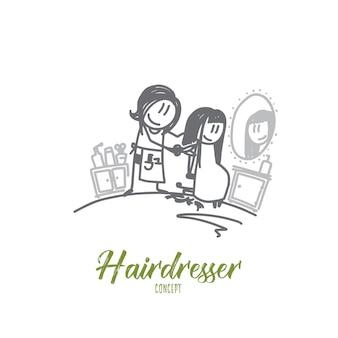 Hairdresser concept illustration