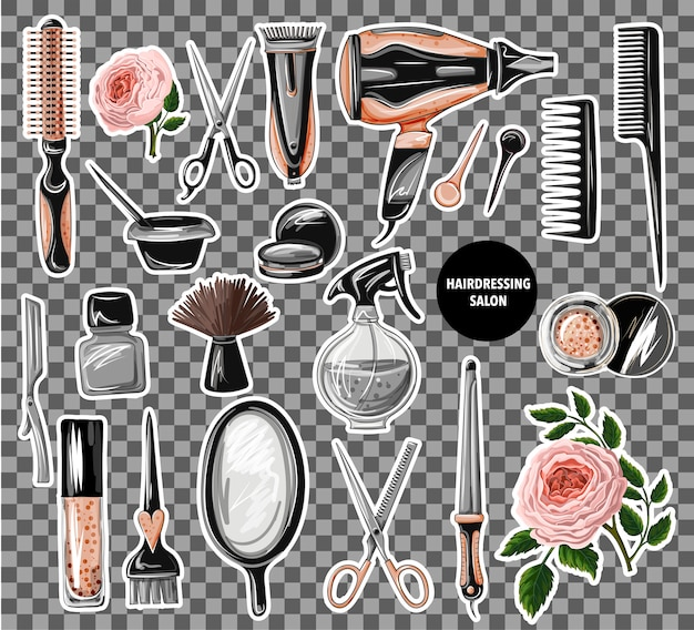 Hairdresser tools stickers