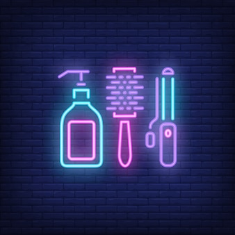 Hairdressing accessories neon sign