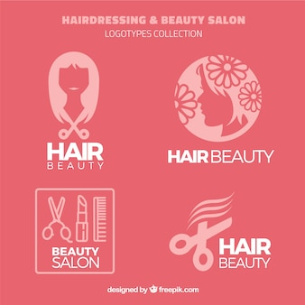 Hairdressing and beauty salon logos