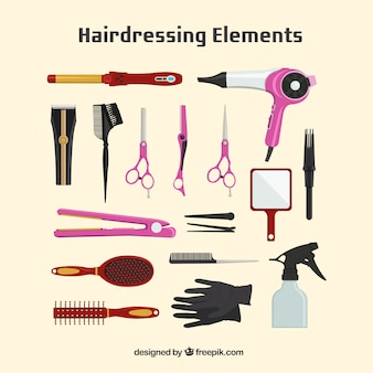 Hairdressing  element collection