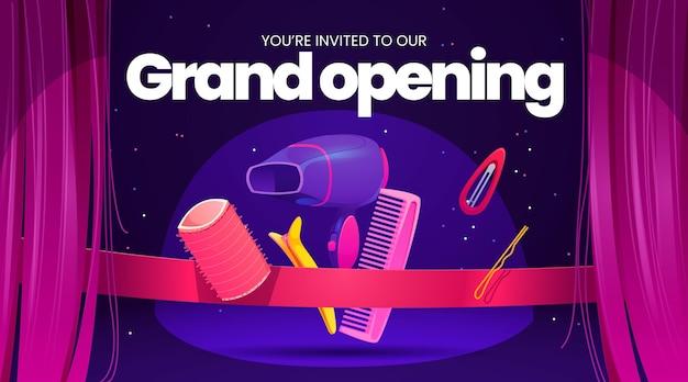 Sfondo del salone di parrucchiere per una grande inaugurazione