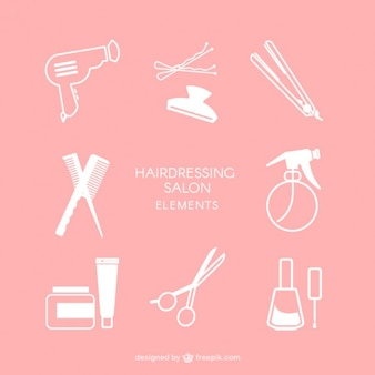 Hairdressing salon elements