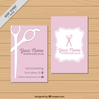 Hairdressing Salon Visit Card