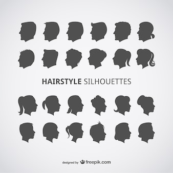 Hairstyle silhouettes