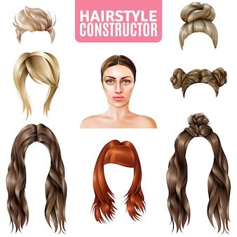 女性のためのヘアスタイルコンストラクタ