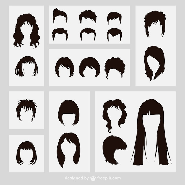 Hairstyles Vectors, Photos and PSD files