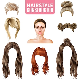 Hairstyles for women constructor