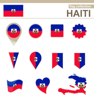 Haiti flag collection, 12 versions