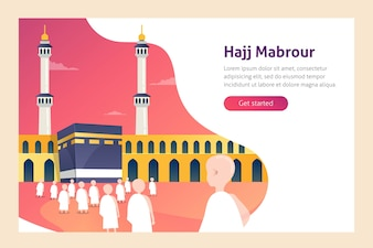 Hajj and Umrah Vector Illustration