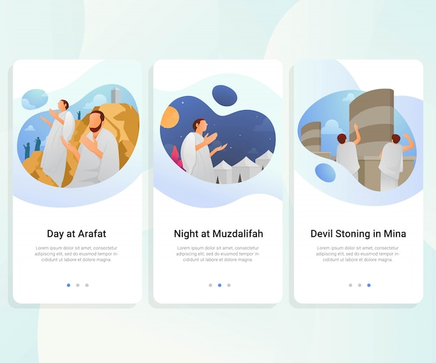 Hajj guide step by step user interface kit