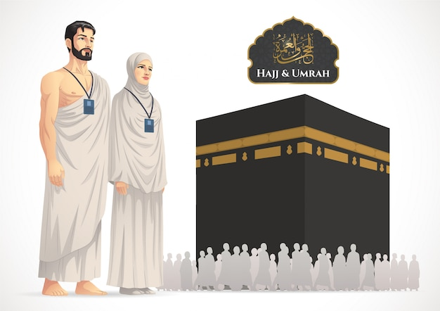 Hajj and umrah illustration