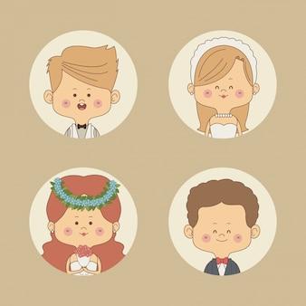 Половина тела невесты и жениха блондинка и другие пары