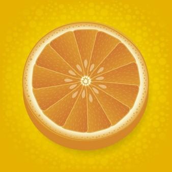 Metà sfondo arancione