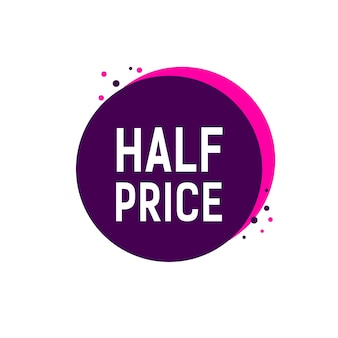 Half price lettering on round tag