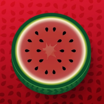 Half watermelon background