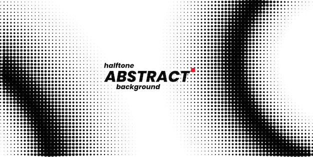 Halftone in abstract style. white and black background.