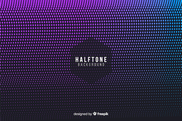 Halftone background in gradient style