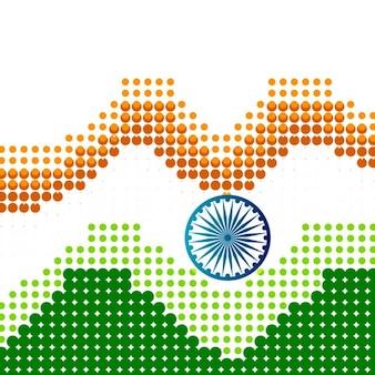 Halftone background of indian flag