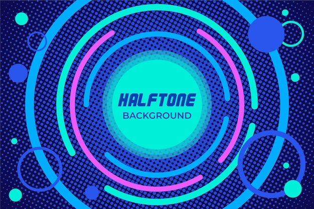 Halftone background music sound design