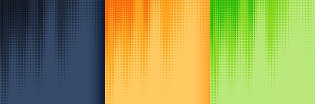 Halftone background set in black yellow and green color