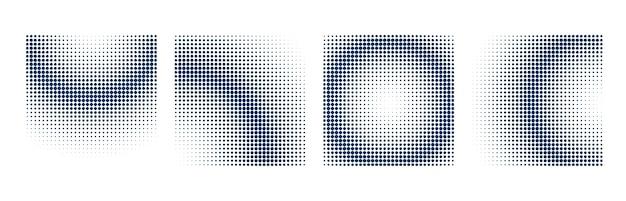 사각형 모양으로 설정된 하프 톤 배경