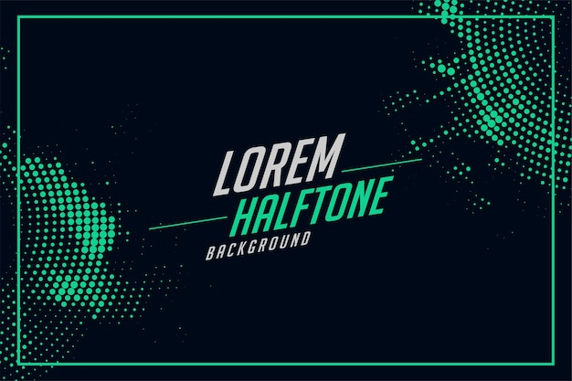 Halftone background in turquoise color Free Vector
