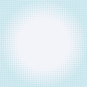 Halftone background with circular shape