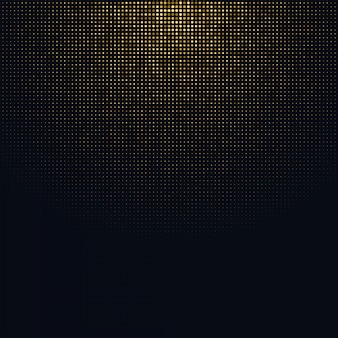 Halftone background with glitter gold