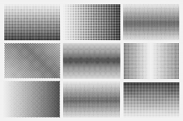 Halftone backgrounds set