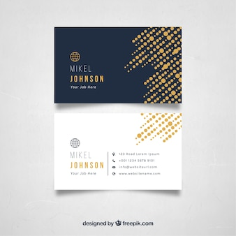 Halftone business card template
