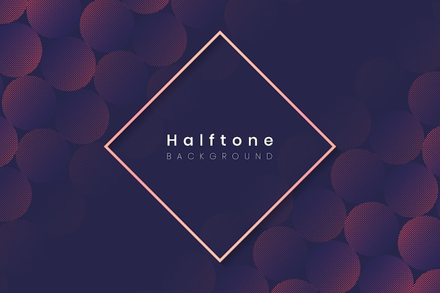 Halftone circle background frame