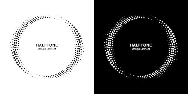 Полутоновый круг пунктирная рамка, круговой набор.