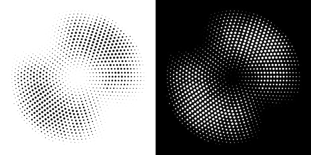 Halftone circle frame dotted background set.  illustration.